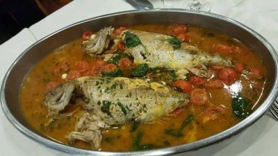 pesce allacqua di mare al ristorante le tre caravelle