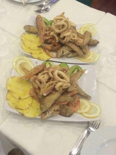 frittura e fritturina di pesce fresco