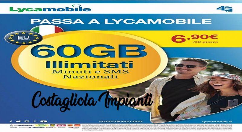 Costagliola Impianti offerta Lycamobile - occasione sim Lycamobile gratis Napoli