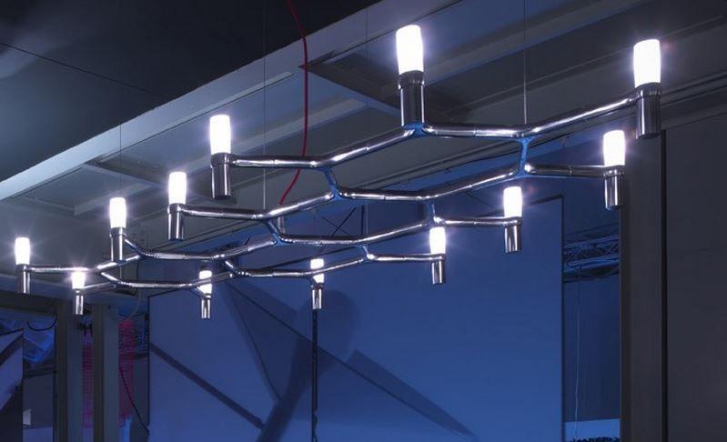 Lampadari NEMO in alluminio e vetro modello Crown
