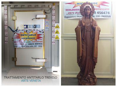 trattamento antitarlo scultura sacra arte veneta