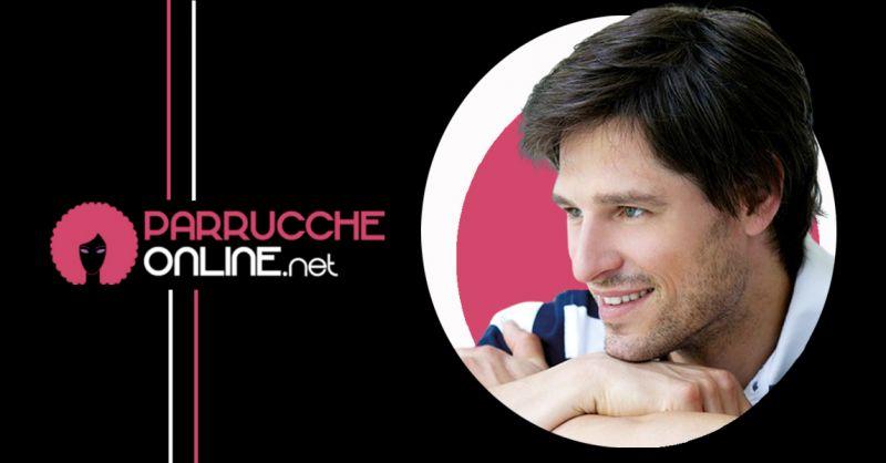 Offerta Parrucca in fibra sintetica per uomo modello lungo - Occasione Parrucca Modello Johnny Sport