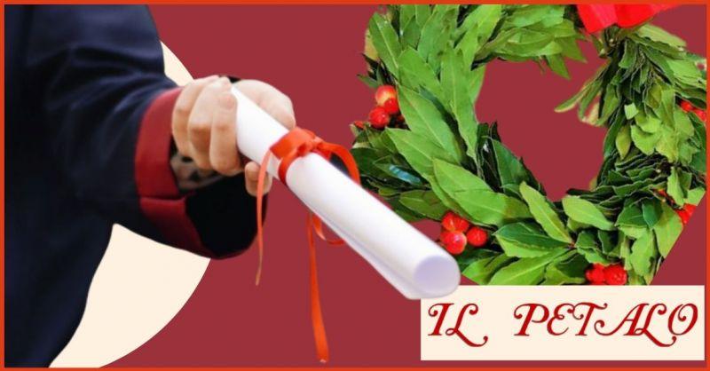 promozione servizi floreali per feste di laurea e corono di alloro Siena - IL PETALO FIORI
