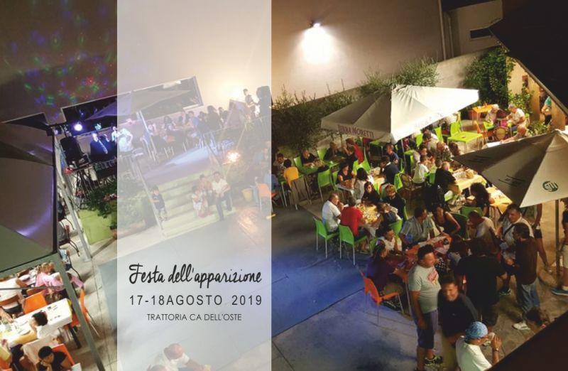 TRATTORIA CA DELL'OSTE offerta festa dell apparizione - musica dal vivo borgo santa caterina