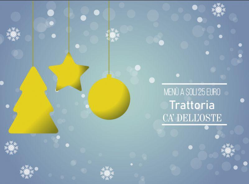 TRATTORIA CA DELL'OSTE offerta cena di famiglia dicembre – promozione cena natale gruppi