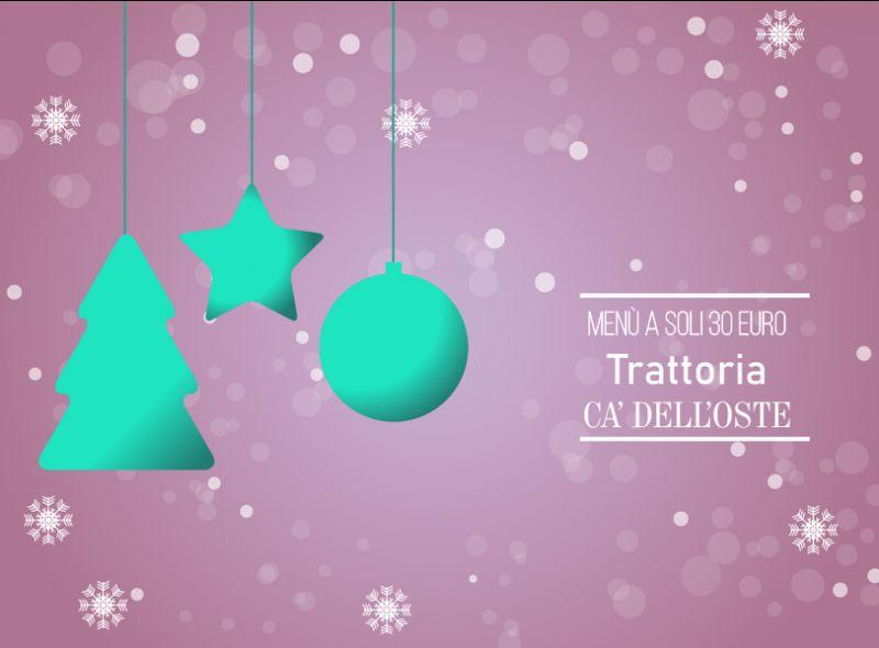 TRATTORIA CA DELL'OSTE offerta cena grandi gruppi dicembre - promozione pranzo di natale