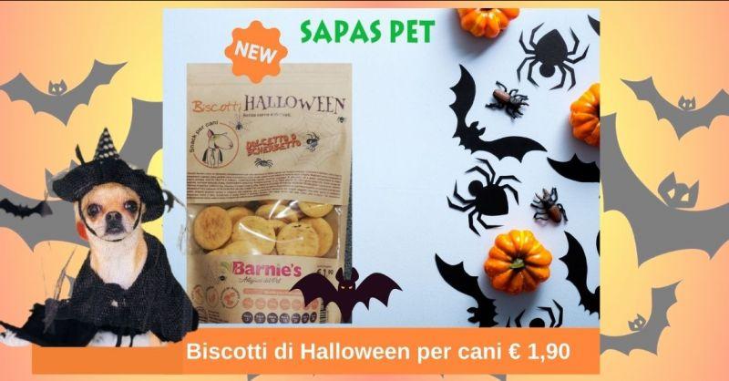 SAPAS PER - promozione biscotti Halloween per cani senza carne e derivati