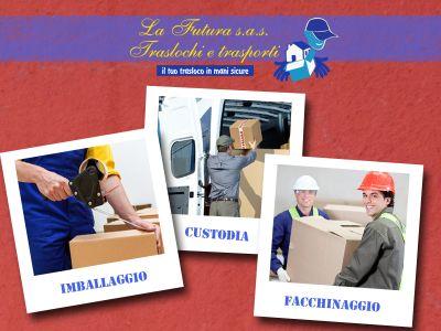 offerta facchinaggio traslochi promozione custodia mobili sgomberi futura traslochi e trasporti