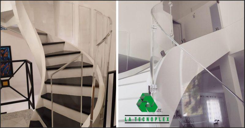 la tecnoplex offerta scale in plexiglass - occasione corrimano in plexiglass imperia
