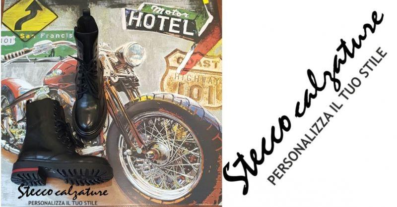 Stecco Calzature - Occasione nuovi arrivi bikers urban girls calzature anfibi donna vera pelle
