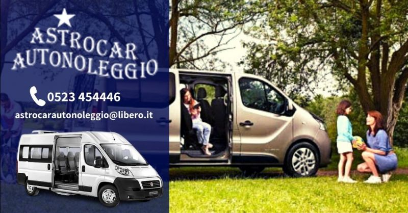 Offerta minibus a noleggio senza conducente Piacenza - Occasione noleggio minibus 9 posti Piacenza
