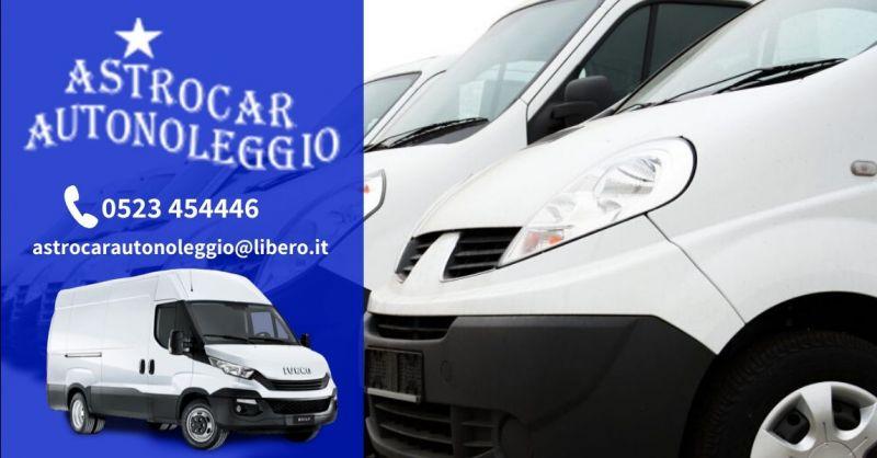 Promozione furgoni cassonati a noleggio - Occasione noleggio furgoni senza autista Piacenza