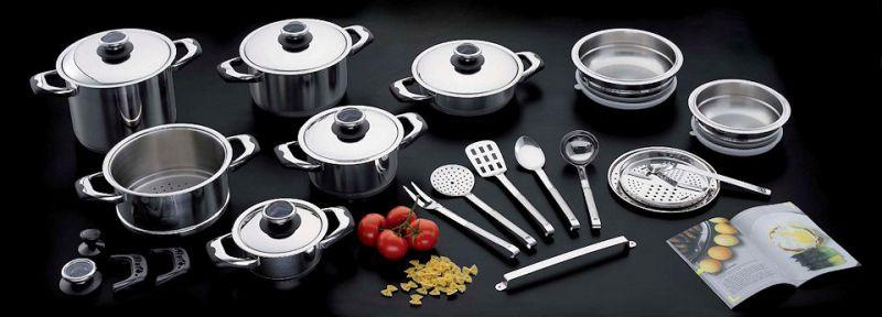 offerta cucinare senza grassi - occasione pentole in acciaio inox cucinare in modo sano