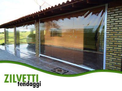 promozione offerta chiusure laterali in pvc per portici e tettoie verona rovigo