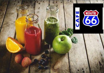 cafe route 66 offerta centrifugati freschi promozione estratti pausa detossinante