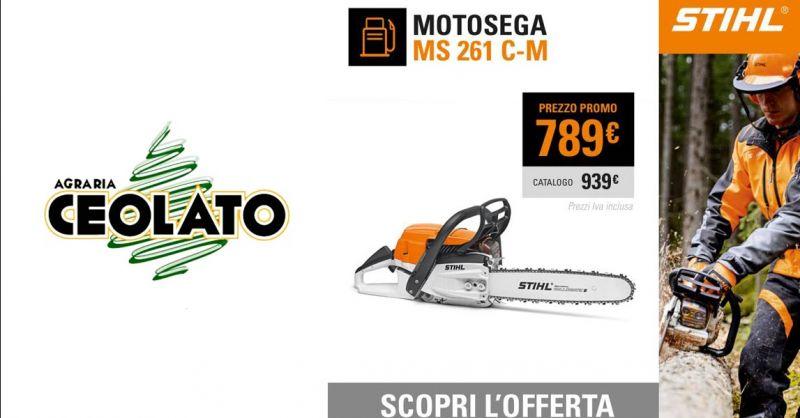 Offerta Vendita  Motosega STIHL MS 261 C-M Vicenza - Occasione Motosega M Tronic di serie