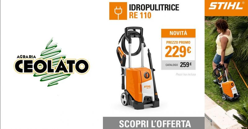 Offerta Vendita idropulitrice RE 110 STIHL Vicenza - Occasione Idropulitrici marca STIHL