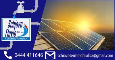 offerta impianti solari termici per acqua calda e riscaldamento vicenza occasione manuntenzione pannelli solari