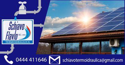 offerta manutenzione pannelli solari riscadamento vicenza occasione installazione fotovoltaico vicenza