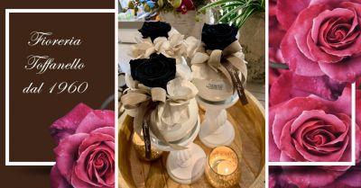 offerta rose nere stabilizzate vicenza occasione composizioni di rose stabilizzate vicenza