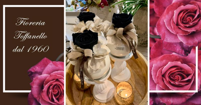 Offerta Rose Nere Stabilizzate Vicenza - Occasione Composizioni di Rose Stabilizzate Vicenza
