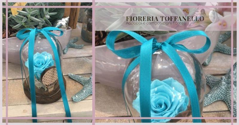 FIORERIA TOFFANELLO - Occasione vendita online articoli regalo TECA TIFFANY con rosa