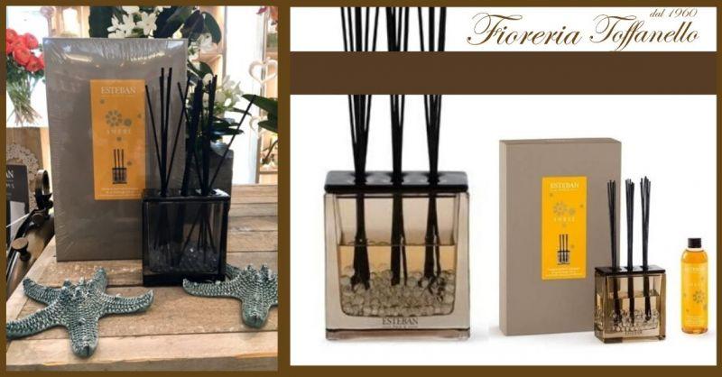 FIORERIA TOFFANELLO - Offerta vendita online ESTEBAN Vaso diffusore profumo casa AMBRE