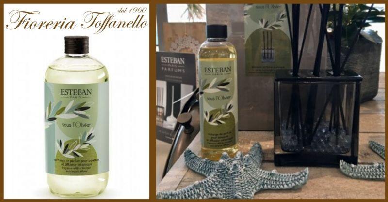 FIORERIA TOFFANELLO - Occasione vendita profumo ambiente Esteban Paris fragranza Sous L'Olivier