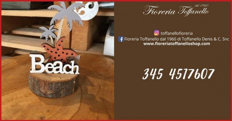 FIORERIA TOFFANELLO  - Offerta vendita online articolo regalo segnaposto da tavolo BEACH MARKER