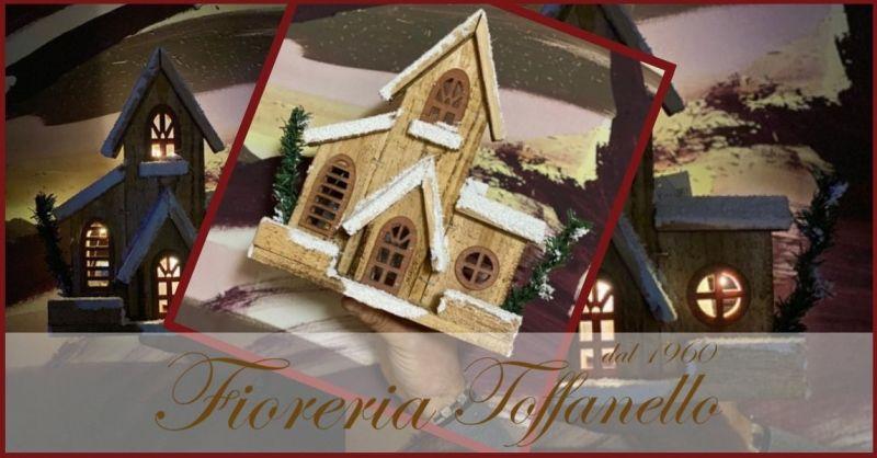 FIORERIA TOFFANELLO - Occasione idee regalo Natale 2020 vendita online HOUSE WITH LIGHTS
