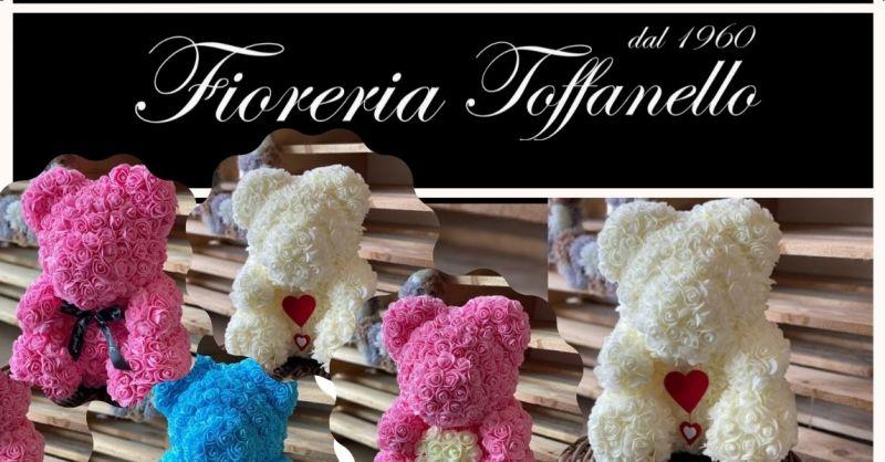 FIORERIA TOFFANELLO - Offerta idea regalo vendita online TEDDY BEAR Orsetto di rose in lattice
