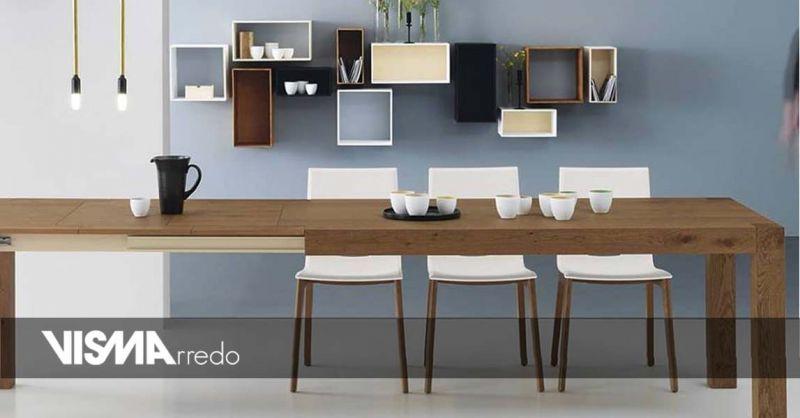 Offerta tavoli in legno allungabili Vicenza - Occasione mobili arredo casa su misura Vicenza