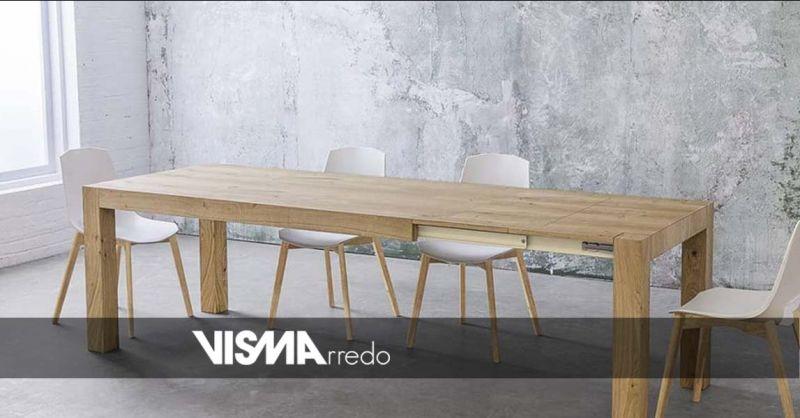 Offerta tavolo rotondo allungabile Vicenza - Occasione tavoli allungabili di design moderno