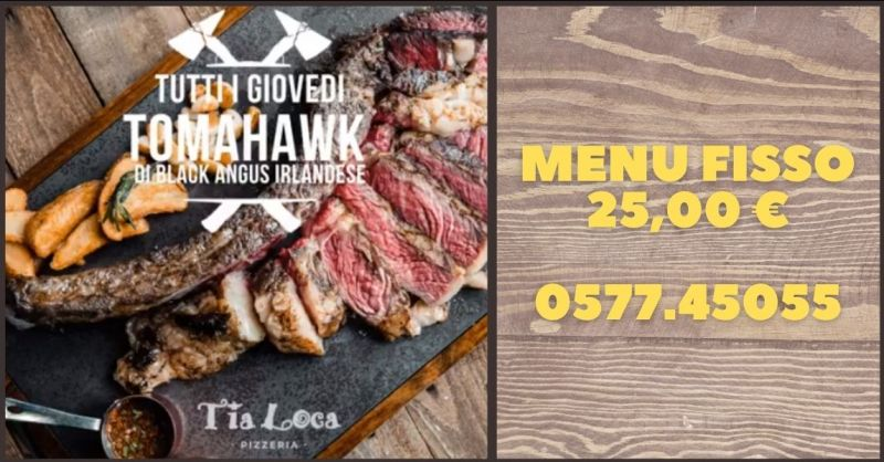 TIA LOCA RISTORANTE - offerta menu fisso di carne ristorante a Siena