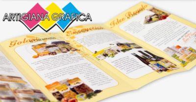 artigiana grafica offerta produzione personalizzata raccoglitori espositori da banco packaging