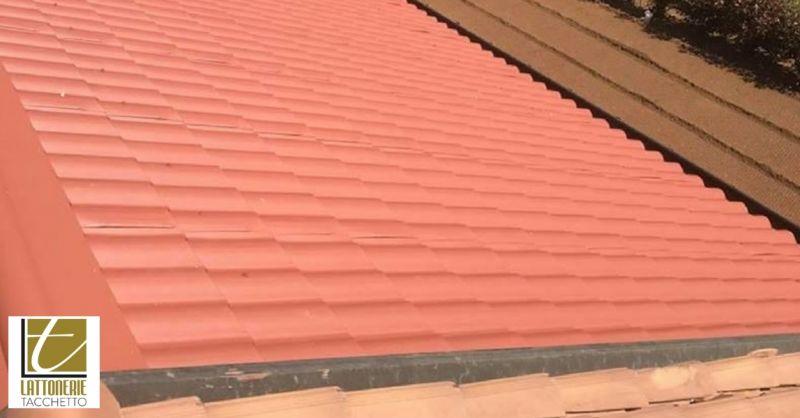 Lattonerie Tacchetto offerta rivestimenti tetto - occasione coperture in finto coppo per tetto