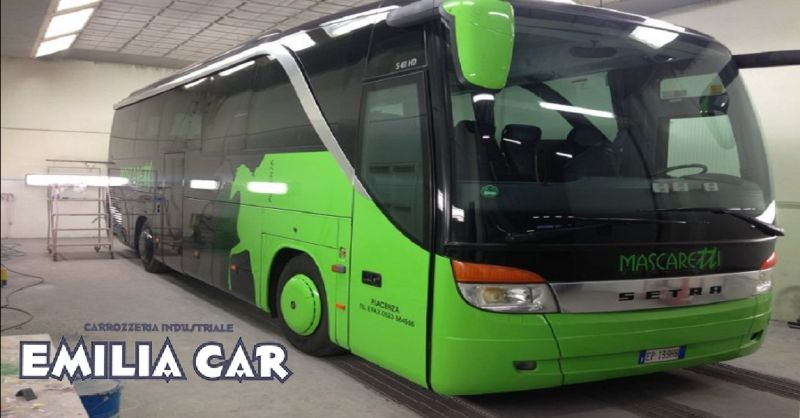 offerta carrozzeria truck e bus a Piacenza - occasione verniciatura e raddrizzatura autobus