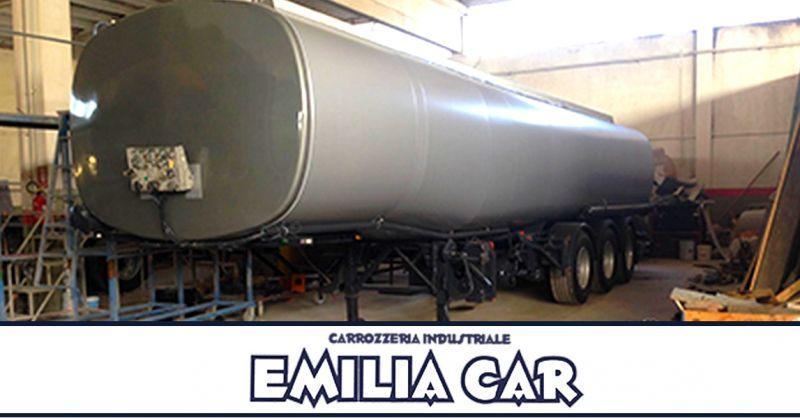 Offerta verniciatura silos e cisterne Piacenza - occasione manutenzione mezzi pesanti Piacenza
