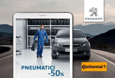 offerta sconto pneumatici continental promozione acquisto pneumatici peugeot eredi bellante