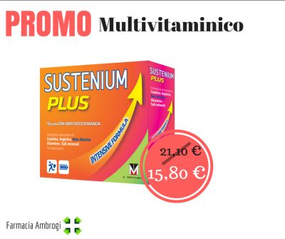 promo offerta sustenium plus vitamine minerali stanchezza arancia energia