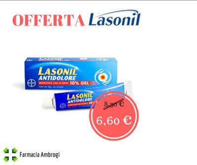 lasonil pomata gel antidolorifico antinfiammatorio botta offerta sconto promo