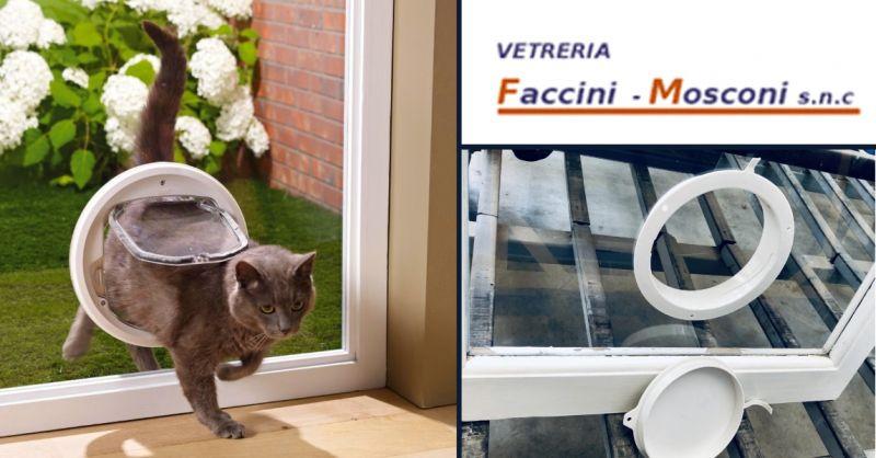 Occasione realizzazione fori per condizionatori - offerta fori su vetro per passagatto Verona
