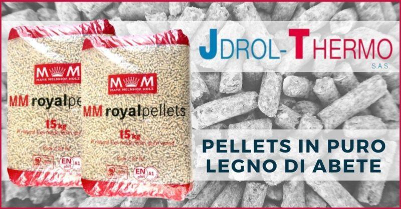 occasione vendita pellets in puro legno di abete in offerta Versilia - JDROL-THERMO