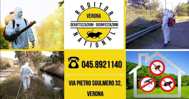 Offerta professionisti disinfestazione insetti animali infestanti in ambienti esterni provincia Mantova