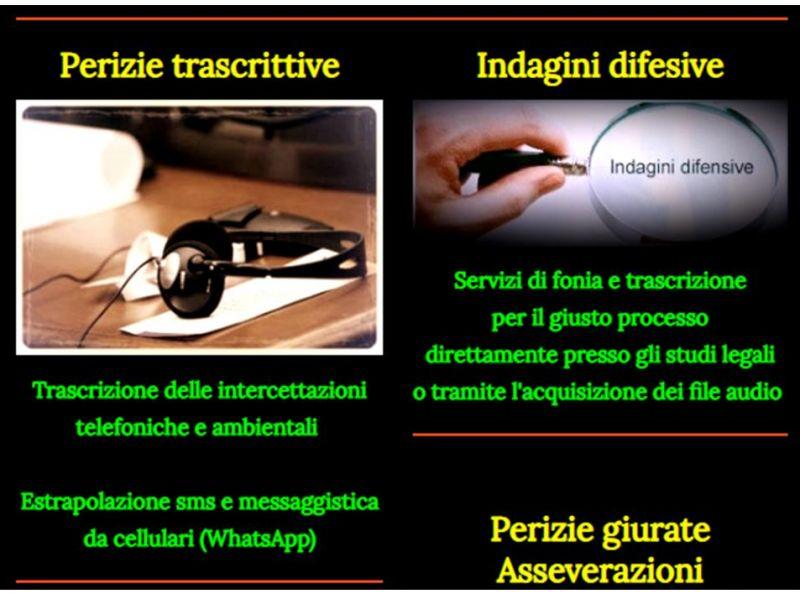 Francesco Cellini - Trascrizioni delle tue registrazioni audio e video - ASSEVERAZIONI