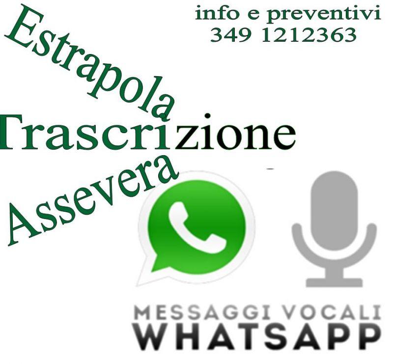 Trascrizione Messaggi vocali WhatsApp