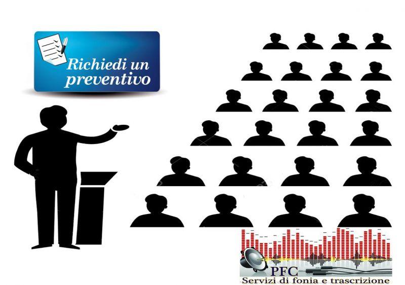 Registrazione audio-video e trascrizione eventi