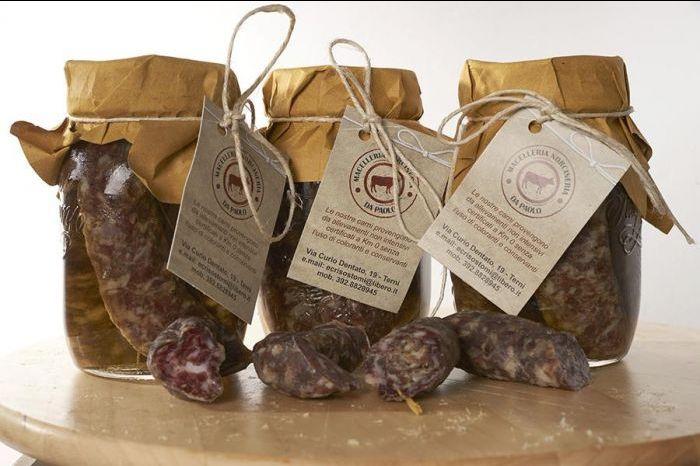 offerta salsicce sottolio prodotti tipici umbria occasione vendita online salsicce secche