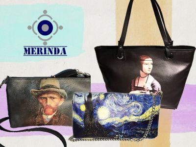 offerta borse artistiche promozione borse stampe artistico merinda