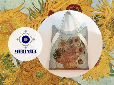 offerta girasoli van gogh promozione borse stampe artistiche merinda borse